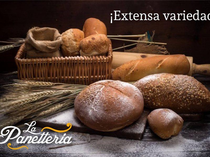 Extensa Variedad de panes en la panetteria puerto vallarta